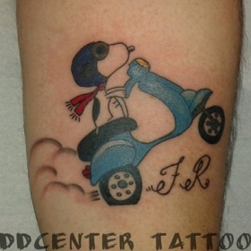 DDcenter   tattoo Snoopy-1