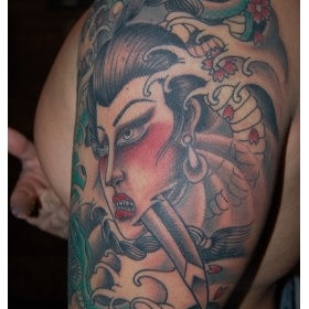 Geisha in progress