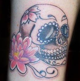 FEARINKTATTOO   skull mexican + loto