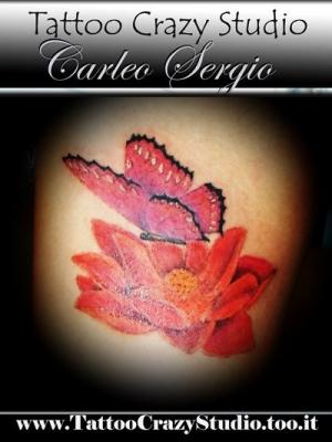 tattoocrazystudio----------farfalla-fiore di loto