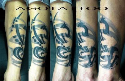 AGOTATTOO ART STUDIO  ---- POLINESIA BLACK ART