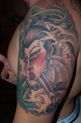 Geisha in progress