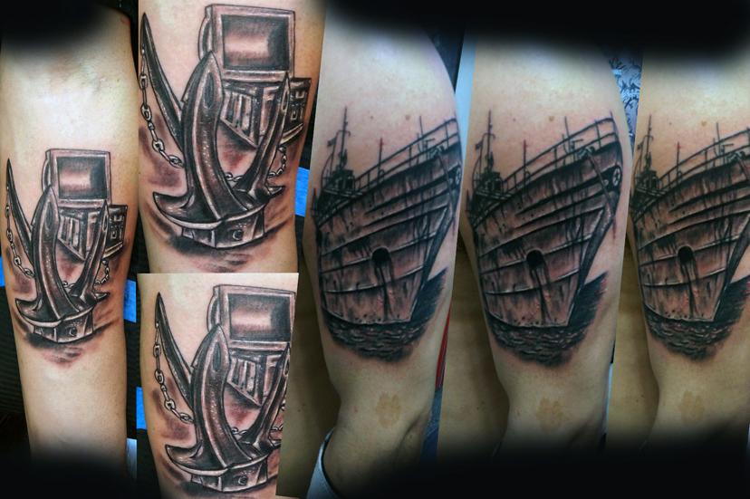 Tatuaggio ancora veliero-1