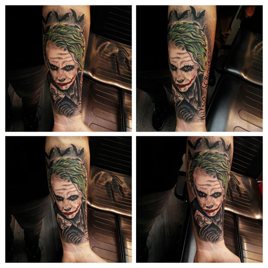 Tatuaggio Joker di Batman-1