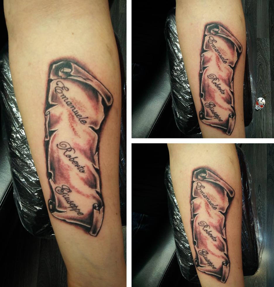 Tatuaggio vecchio manoscritto-1