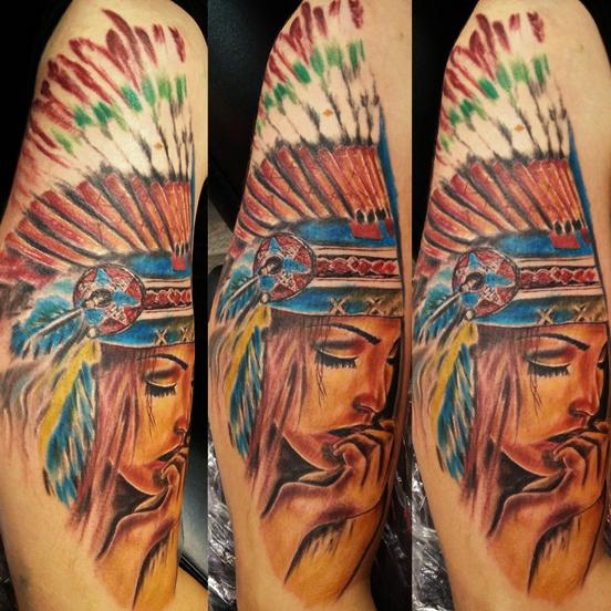 Tatuaggio realistico indiana-1