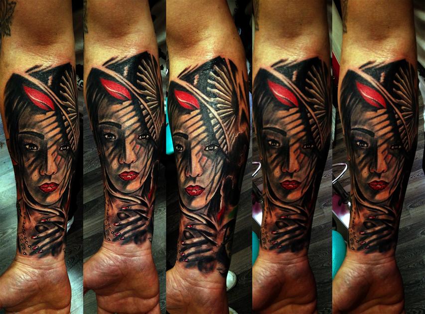 Tatuaggio volto giapponese-1
