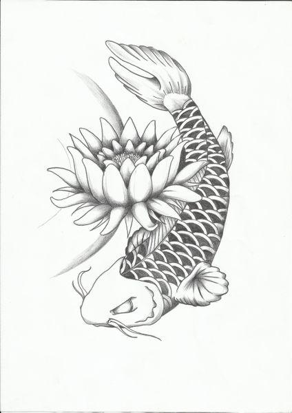 tatuaggio carpa koi